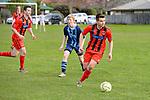 NELSON, NEW ZEALAND - JULY 18: Tasman Senior Men's Div 1 Football, Nelson College v Fresh Choice Richmond, Ngawhatu, Nelson, 18th July, New Zealand. (Photos by Barry Whitnall/Shuttersport Limited)