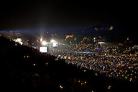 Some 200,000 pilgrims hold candles during an evening vigil ahead of the beatification of Pope John Paul ll.
