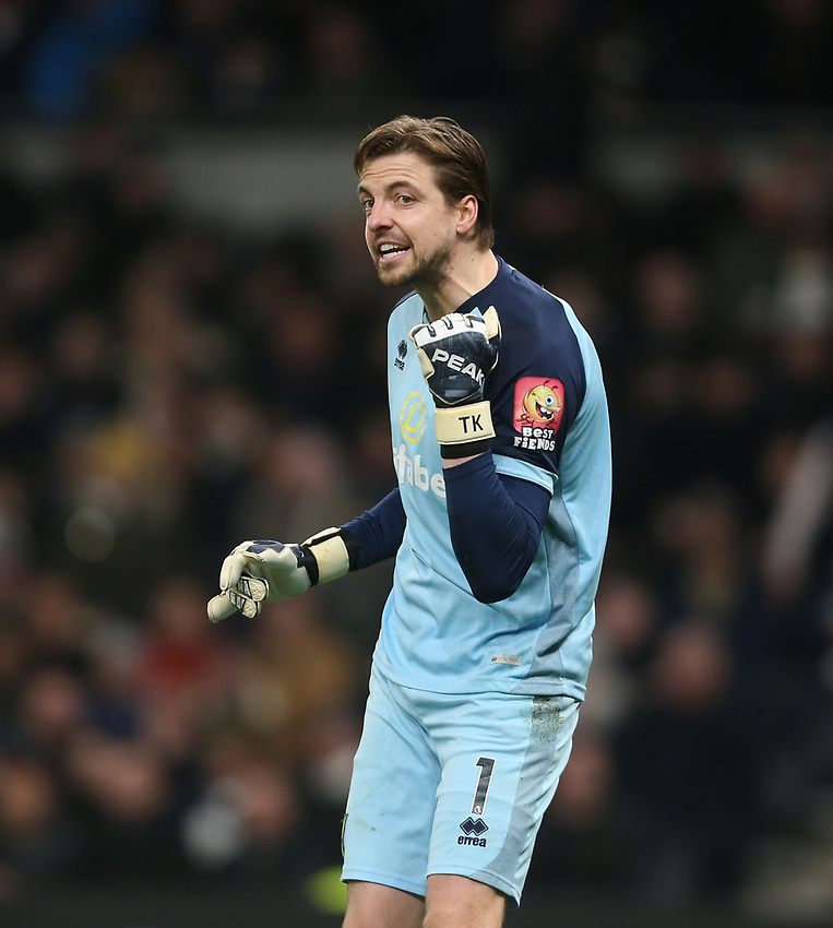 Norwich City's Tim Krul<br /> <br /> Photographer Rob Newell/CameraSport<br /> <br /> The Emirates FA Cup Fifth Round - Tottenham Hotspur v Norwich City - Wednesday 4th March 2020 - Tottenham Hotspur Stadium - London<br />  <br /> World Copyright © 2020 CameraSport. All rights reserved. 43 Linden Ave. Countesthorpe. Leicester. England. LE8 5PG - Tel: +44 (0) 116 277 4147 - admin@camerasport.com - www.camerasport.com