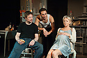 """Chicken"", starring Lisa Maxwell and Craig Kelly opens at the Trafalgar Studios. Picture shows:  Craig Kelly, George Georgiou and Lisa Maxwell."