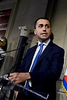 Roma, 12 Aprile 2018<br /> Movimento 5 Stelle<br /> Luigi Di Maio.<br /> Secondo giro di Consultazioni per la formazione del Governo