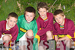 Games: Sean Scanlon, Stephen Ashe, William OConnor and Oisin Mangan of the Duagh /Lyre Soccer Team taking part in the Boys U12 Outdoor Soccer Finals Community Games at Listowel Celtic Pitch on Sunday morning..