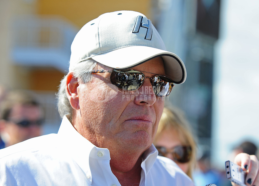 Nov. 21, 2010; Homestead, FL, USA; NASCAR Sprint Cup Series team owner Rick Hendrick prior to the Ford 400 at Homestead Miami Speedway. Mandatory Credit: Mark J. Rebilas-