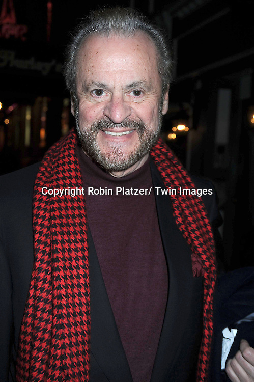 "Barry Weissler at The last performance for Kelsey Grammer and Douglas Hodge in ""La Cage Aux Folles"" on February 13, 2011 at The  Longacre Theatre in New York City. ."