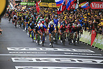 Marcel Kittel (GER) Quick-Step Floors leads the bunch sprint for the finish line of Stage 2 of the 104th edition of the Tour de France 2017, running 203.5km from Dusseldorf, Germany to Liege, Belgium. 2nd July 2017.<br /> Picture: Eoin Clarke | Cyclefile<br /> <br /> <br /> All photos usage must carry mandatory copyright credit (&copy; Cyclefile | Eoin Clarke)