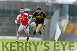 Eoin Lawlor Rathmore in action against Gavin White Dr Crokes in the O'Donoghue Cup Final at Fitzgerald Stadium on Sunday.