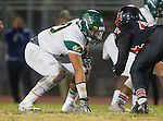 San Pedro, CA 11/27/15 - Jaden Rust (Mira Costa #70) in action during the CIF Western Division semi-final game between Mira Costa and Palos Verdes.  Palos Verdes defeated Mira Costa to advance to the Western Division finals.