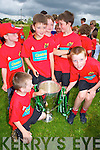 HEINEKEN CUP: Children enjoying the Rugby Summer Camp at O'Dowd Park, Tralee got a big surprise when Munster Rugby Players Kieran Lewis and Keith Earls turned up for a visit with the Heineken Cup on Wednesday. The camp has been very popular, with children from all over Kerry attending and is running until Friday.Daire Kennelly