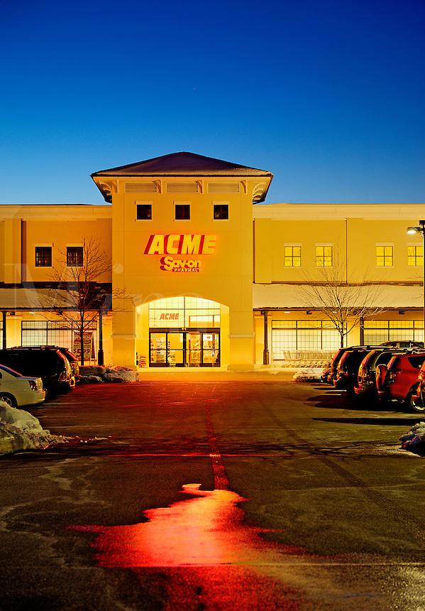 Exterior of an Acme brand supermarket.