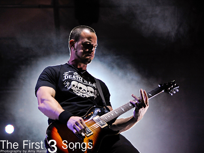 Mark Tremonti of Alter Bridge performs during the Carnival of Madness tour at the Kentucky State Fair's Cardinal Stadium on Friday, August 26, 2011.
