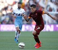 Calcio, Serie A: Lazio vs Roma. Roma, stadio Olimpico, 25 maggio 2015.<br /> Roma's Juan Iturbe in action during the Italian Serie A football match between Lazio and Roma at Rome's Olympic stadium, 25 May 2015.<br /> UPDATE IMAGES PRESS/Isabella Bonotto