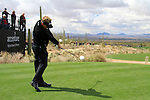Luke Donald (ENG) tees off on the 1st tee to start the Finals Day 5 of the Accenture Match Play Championship from The Ritz-Carlton Golf Club, Dove Mountain, Sunday 27th February 2011. (Photo Eoin Clarke/golffile.ie)