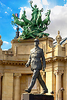 Paris - France - Nef du Grand Palais with statue of Charles De Gaulle