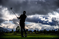 Yuvraj Sandhu (India) tees off at the 4th on day one of the 2017 Asia-Pacific Amateur Championship day one at Royal Wellington Golf Club in Wellington, New Zealand on Thursday, 26 October 2017. Photo: Dave Lintott / lintottphoto.co.nz