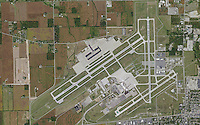 aerial map Dayton International Airport, Dayton, Ohio