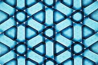 New York, NY, USA - December 14, 2011: Origami tessellation designed and folded by Esmé Cribb, reverse side.