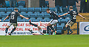 Dundee's David Clarkson celebrates after he scores their late winning goal.