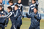Madrid (24/02/10).-Entrenamiento del Real Madrid..Raul, Xabi Alonso y Marcelo...© Alex Cid-Fuentes/ ALFAQUI..Madrid (24/02/10).-Training session of Real Madrid c.f..Raul, Xabi Alonso and Marcelo...© Alex Cid-Fuentes/ ALFAQUI.