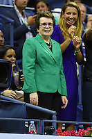FLUSHING NY- AUGUST 30: Billie Jean King seen watching Serena Williams Vs Ekaterina Kakarova on Arthur Ashe Stadium at the USTA Billie Jean King National Tennis Center on August 30, 2016 in Flushing Queens. Credit: mpi04/MediaPunch