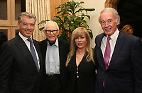 BEVERLY HILLS, CA - MAY 30: Pierce Brosnan, Daphna Edwards Ziman, Senator Ed Markey, at Reception Honoring Massachusetts Senator Ed Markey Hosted by Keely &amp; Pierce Brosnan and Daphna Edwards Ziman at Private Residence in Beverly Hills, California on May 30, 2018. <br /> CAP/MPIFS<br /> &copy;MPIFS/Capital Pictures