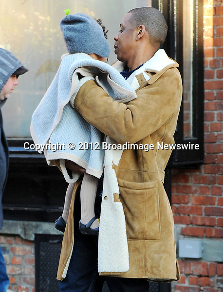 Pictured: Beyonce Knowles, Jay Z, Blue Ivy<br /> Mandatory Credit &copy; Jayme Oak/Broadimage<br /> Jay Z and wife Beyonce Knowles take their precious cargo baby Blue Ivy to lunch in a restaurant in Brooklyn in New York City<br /> <br /> 1/20/14, New York, New York, United States of America<br /> <br /> Broadimage Newswire<br /> Los Angeles 1+  (310) 301-1027<br /> New York      1+  (646) 827-9134<br /> sales@broadimage.com<br /> http://www.broadimage.com<br /> <br /> <br /> Pictured: Beyonce Knowles, Jay Z, Blue Ivy<br /> Mandatory Credit &copy; Jayme Oak/Broadimage<br /> Jay Z and wife Beyonce Knowles take their precious cargo baby Blue Ivy to lunch in a restaurant in Brooklyn in New York City<br /> <br /> 1/20/14, New York, New York, United States of America<br /> Reference: 011914_JKNY_BDG_026<br /> <br /> Broadimage Newswire<br /> Los Angeles 1+  (310) 301-1027<br /> New York      1+  (646) 827-9134<br /> sales@broadimage.com<br /> http://www.broadimage.com