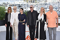 """CANNES, FRANCE - MAY 15: Sara Driver, Tilda Swinton, Selena Gomez, Jim Jarmusch, Chloe Sevigny, Bill Murray at photocall for """"The Dead Don't Die"""" during the 72nd annual Cannes Film Festival on May 15, 2019 in Cannes, France. <br /> CAP/PL<br /> ©Phil Loftus/Capital Pictures"""