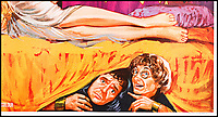 BNPS.co.uk (01202 558833)<br /> Pic: PropStore/BNPS<br /> <br /> Comedy Gold...Charles Hawtrey.<br /> <br /> What a Carry On...banned poster set to sell for £3000.<br /> <br /> An incredibly rare movie poster from the slapstick classic Carry On Cleo has finally had the last laugh, 55 years after it was banned from use.<br /> <br /> It's now twice as valuable to movie buffs as the original Cleopatra poster starring Richard Burton and Elizabeth Taylor that it attempted to lampoon.<br /> <br /> The artwork for the 1964 comedy classic had to be binned after movie bosses of the far more expensive Taylor/Burton film from the previous year had complained about blatant copyright abuse.<br /> <br /> The poster for the original 1963 epic showed Taylor as Cleopatra sprawled on a bed with Burton's Mark Anthony stood over her.<br /> <br /> The tongue-in-cheek Carry On version featured a winking Amanda Barrie and a leering Sid James  stood behind her. <br /> <br /> The Prop Store are also selling an original Cleopatra poster in the same sale with a estimate of £1500...only half the value of the Carry On version.