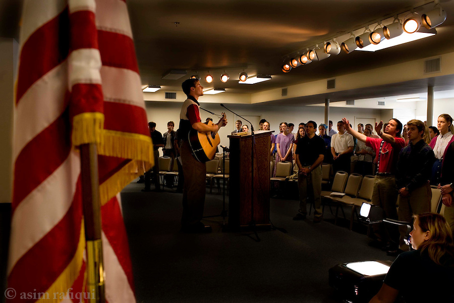 A National Day of Prayer event at the school chapel hall<br />
