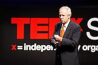 Attorney Sam Millsap speaks during the TEDxSan Antonio 2010 event, Saturday, Oct. 16, 2010, at Trinity University in San Antonio. (Darren Abate/pressphotointl.com)