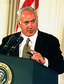 Washington, DC - October 23, 1998 -- Prime Minister Binyamin Netanyahu of Israel speaks preceeding the signing of the Wye River Accords at a White House crermony on Thursday, October 23, 1998..Credit: Ron Sachs / CNP