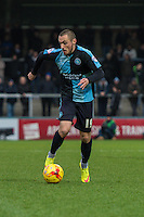Michael Harriman of Wycombe Wanderers during the Sky Bet League 2 match between Wycombe Wanderers and Luton Town at Adams Park, High Wycombe, England on 6 February 2016. Photo by Claudia Nako.