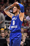 MILWAUKEE, WI - MARCH 18: Middle Tennessee Blue Raiders guard Tyrik Dixon (0) reacts to a call during the second half of the 2017 NCAA Men's Basketball Tournament held at BMO Harris Bradley Center on March 18, 2017 in Milwaukee, Wisconsin. (Photo by Jamie Schwaberow/NCAA Photos via Getty Images)