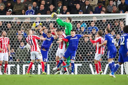22.12.2014. Stoke, England. Barclays Premier League. Stoke City versus Chelsea. Stoke City goalkeeper Asmir Begovic catches the ball.