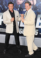 HOLLYWOOD, LOS ANGELES, CA, USA - AUGUST 11: Sylvester Stallone, Frank Stallone at the Los Angeles Premiere Of Lionsgate Films' 'The Expendables 3' held at the TCL Chinese Theatre on August 11, 2014 in Hollywood, Los Angeles, California, United States. (Photo by Xavier Collin/Celebrity Monitor)