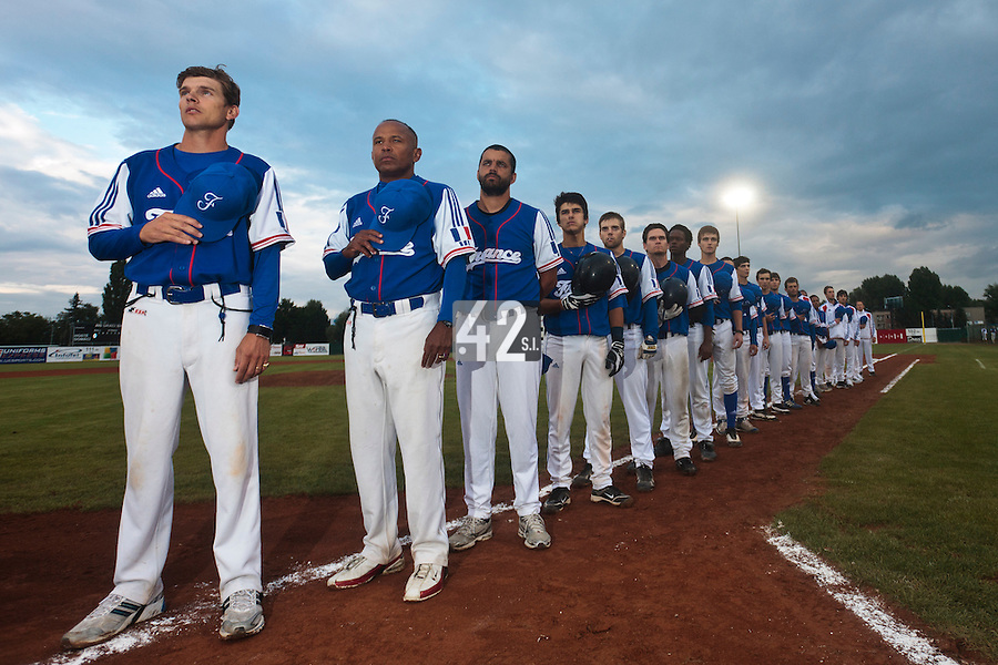 17 August 2010: Team France poses prior to the Czech Republic 4-3 win over France, at the 2010 European Championship, under 21, in Brno, Czech Republic.
