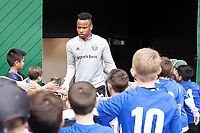 PORTLAND, OR - MARCH 01: Jeremy Ebobisse #17 of the Portland Timbers comes out for pre game warmups during a game between Minnesota United FC and Portland Timbers at Providence Park on March 01, 2020 in Portland, Oregon.