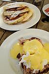 Breakfast at an outdoor cafe, Christchurch, New Zealand