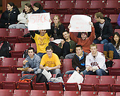 - The Boston College Eagles defeated the Boston University Terriers 2-1 in the opening round of the Beanpot on Tuesday, February 8, 2011, at Conte Forum in Chestnut Hill, Massachusetts.
