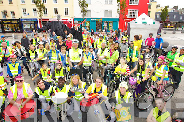 Pictured in the Square Tralee before heading off to Blennerville at Kerry Bicycle festival on Saturday last.