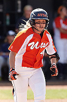 SAN ANTONIO, TX - APRIL 17, 2012: The Houston Baptist University Huskies vs. The University of Texas at San Antonio Roadrunners Softball at Roadrunner Field. (Photo by Jeff Huehn)