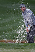February 3rd 2019, Scottsdale, Arizona, USA;  Ollie Schniederjans hits from the sand trap on the 9th green during the final round of the Waste Management Phoenix Open on February 3, 2019, at TPC Scottsdale in Scottsdale, Arizona.