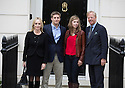 Baroness Thatcher death -.At her home today 15.4.13.her son Mark arrived with his second wife  Sarah and with his children.Amanda and Michael......Pic by Gavin Rodgers/Pixel 8000 Ltd