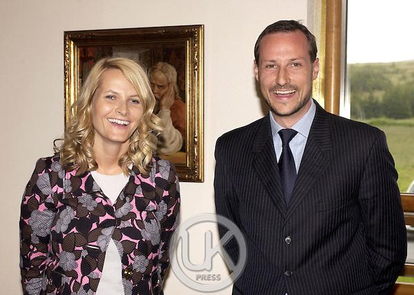Crown Prince Haakon & Crown Princess Mette-Marit of Norway's visit to Iceland..Visit to Reykholt..