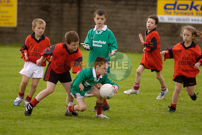 2nd September, 2006. Under 8s and Under 9s Football Blitz at Monasterboice, Drogheda..Blake Rowan in action for Tullyallen during the above..Photo: BARRY CRONIN/Newsfile..(Photo credit should read BARRY CRONIN/NEWSFILE).