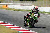 9th July 2020; Circuit de Barcelona Catalunya, Barcelona, Spain; FIM Superbike World Championship Test, Day Two; Jonathan Rea of the Kawasaki Racing Team Worldsbk in hard braking zone with the Kawasaki ZX 10RR
