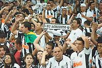 BELO HORIZONTE, MG, 24 JUNHO 2013 - LIBERTADORES - ATLÉTICO MG X OLIMPIA (PAR) - Torcedores do Atlético-MG comemoram a conquista da Copa Libertadores 2013 após vitória na disputa por pênaltis contra o Olimpia, no Estádio do Mineirão, em Belo Horizonte (MG), nesta quarta-feira (24). A equipe conquistou o título da competição ao anular a vitória do Olimpia por 2 a 0, no jogo de ida, pelo mesmo placar no tempo normal, um 0 a 0 na prorrogação e 4 a 3 nos pênaltis. (FOTO: SERGIO FALCI / BRAZIL PHOTO PRESS).