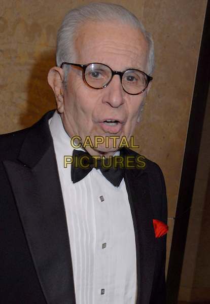 WALTER MIRISCH.2007 ACE Eddie Awards 57th Annual Gala held at the Beverly Hilton Hotel, Beverly Hills, California, USA,.18 February 2007..portrait headshot glasses bow tie.CAP/ADM/GB.©Gary Boas/AdMedia/Capital Pictures.