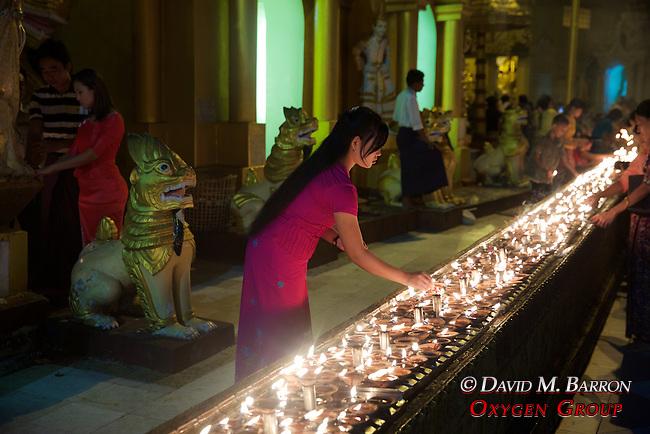 Lighting Incense, Festival Of The Moon, Shwedagon Pagoda