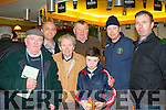 Chasing game<br /> --------------------<br /> attending the annual Kingdom cup coursing at Ballybeggan, Tralee last Sunday Dec 27th were L-R Bernie Boyle, Vincent McMahon, Timmy Moynihan, Michael Costello, Niall McMahon, Ciaran O'Brien with Earl McMahon.