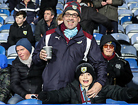 Burnley supporters<br /> <br /> Photographer Andrew Kearns/CameraSport<br /> <br /> The Premier League - Huddersfield Town v Burnley - Wednesday 2nd January 2019 - John Smith's Stadium - Huddersfield<br /> <br /> World Copyright © 2019 CameraSport. All rights reserved. 43 Linden Ave. Countesthorpe. Leicester. England. LE8 5PG - Tel: +44 (0) 116 277 4147 - admin@camerasport.com - www.camerasport.com